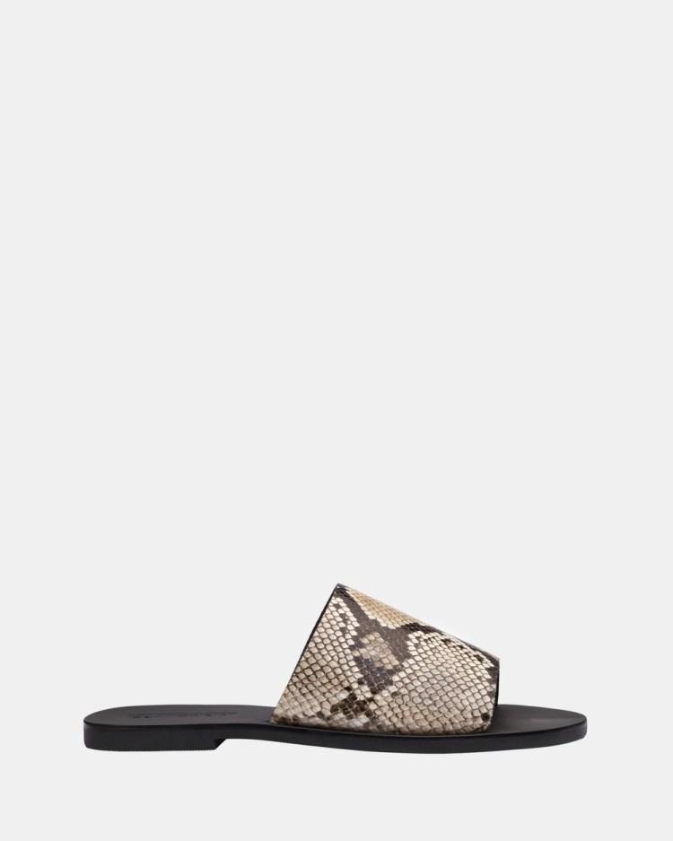 Sol Sana Teresa Slides Sandals Natural Snake