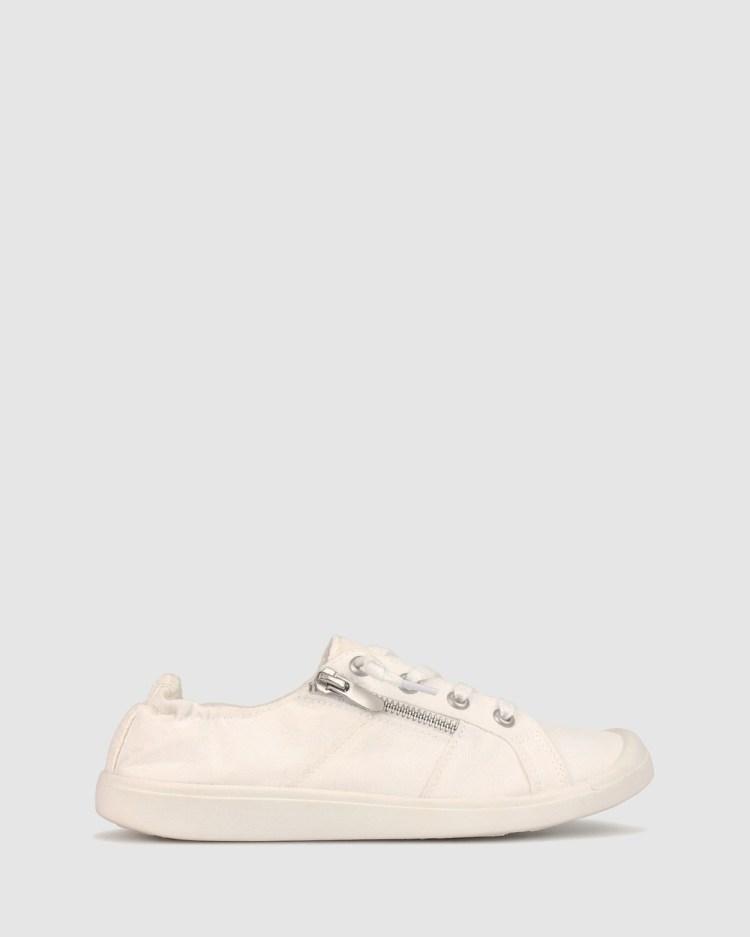 Zeroe Ella Slip On Sneaker Casual Shoes White