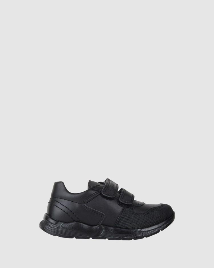 Pablosky School Self fastening Strap Shoes Flats Black Self-fastening