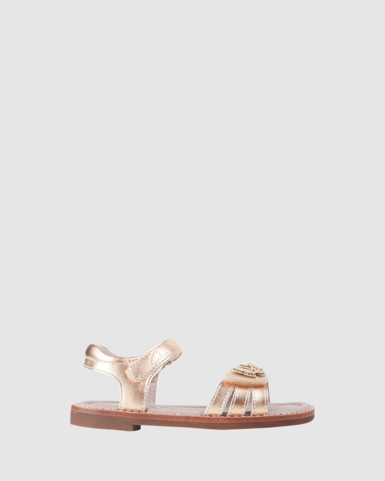 CIAO Fluttering Sandals Rose Gold