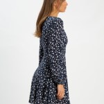 The Fated - Thinking About You Mini Dress - Dresses (Navy Based Floral) Thinking About You Mini Dress