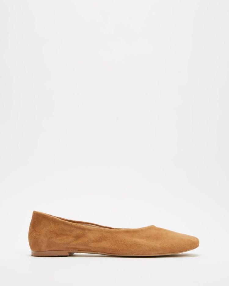 Jonak Anael Ballet Flats Camel