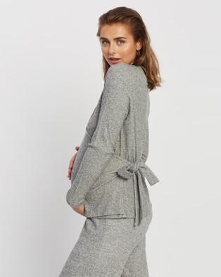 TOPSHOP Maternity - Loungewear Wrap Top - Jumpers & Cardigans (Grey Marle) Loungewear Wrap Top