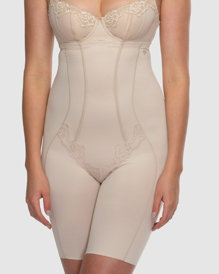Hush Whisper Firm Control High Waist Thigh Shapers Lingerie Nude / Nude