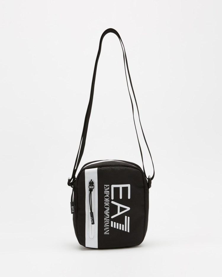 Emporio Armani EA7 Train Core U Small Pouch Bag Bags Black & White Detail