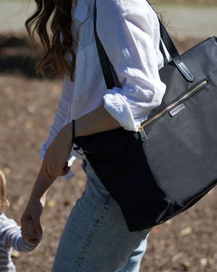 The Nappy Society - Luxe Nylon Tote - Bags (Black) Luxe Nylon Tote