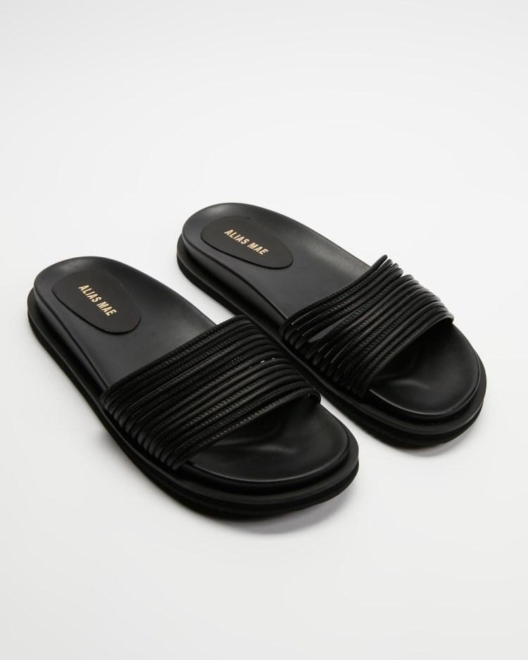 Alias Mae Solar Sandals Black Leather