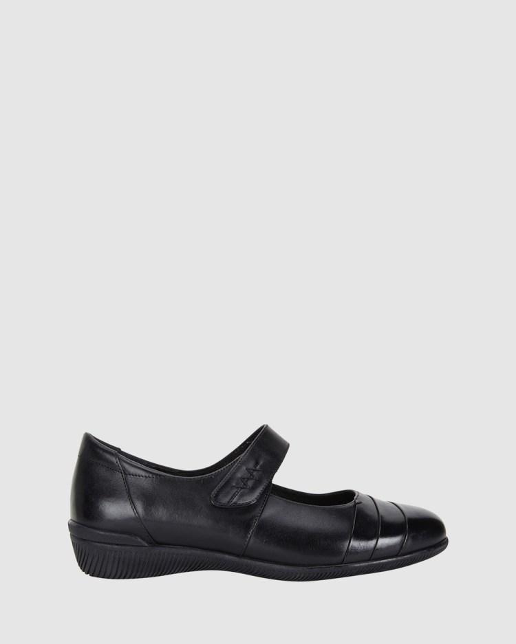 Wide Steps Winston Ballet Flats Black