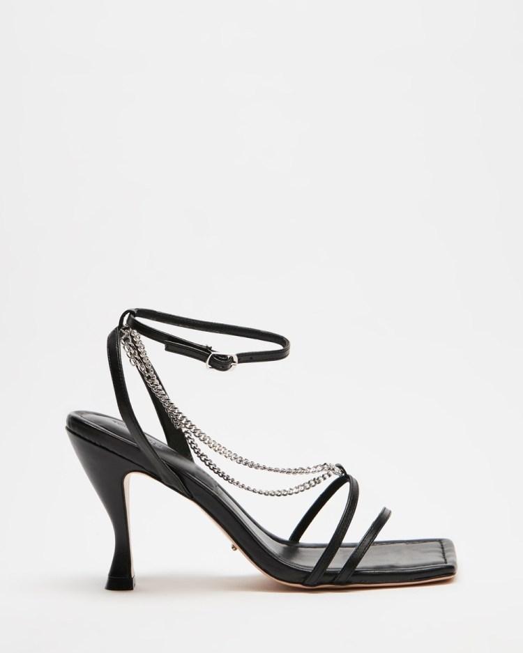 Tony Bianco Libra Sandals Black Capretto