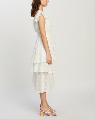MINKPINK - Ashlyn Frill Midi Dress - Dresses (White) Ashlyn Frill Midi Dress