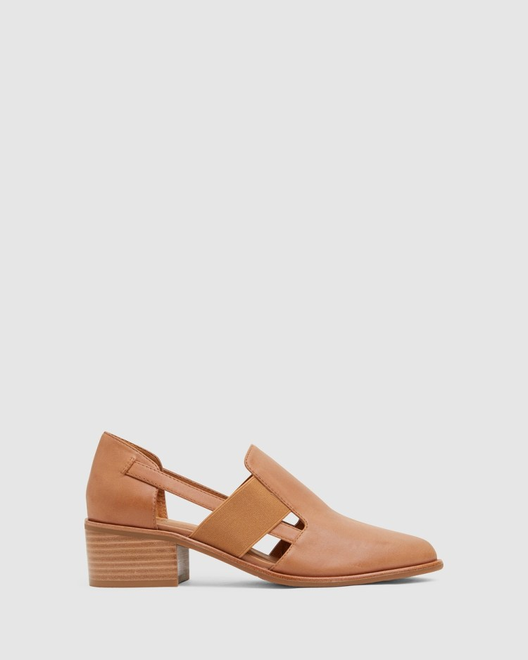 Jane Debster Expose Mid-low heels TAN