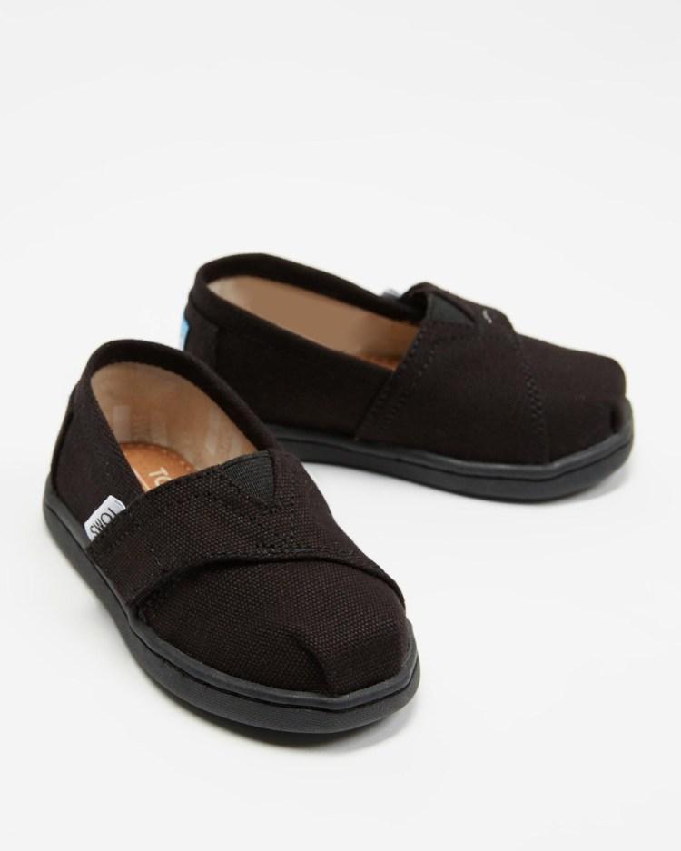 TOMS Classic Alpargata Tiny Casual Shoes Black on Black