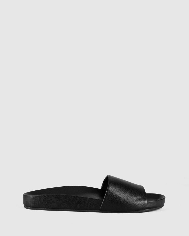 St Sana Flo Slides Sandals Black