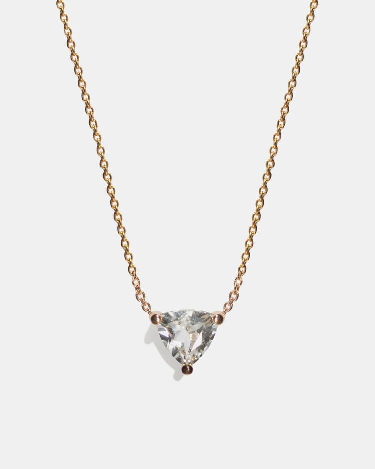Aletheia & Phos Cor Luna Necklace Jewellery Gold White Topaz