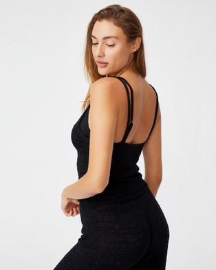 Cotton On Body Summer Lounge Singlet Singlets Black