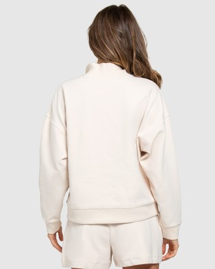Forever New - Olympia Collar Loungewear Jumper - Jumpers & Cardigans (Beige) Olympia Collar Loungewear Jumper