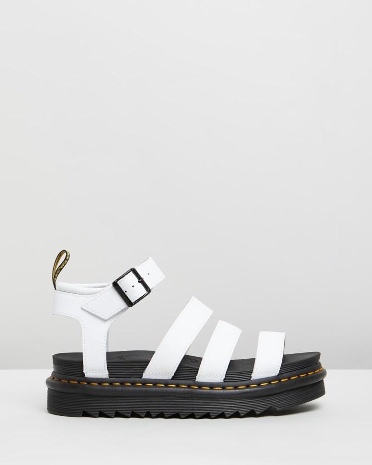 Dr Martens Blaire Hydro Sandals Wedges White