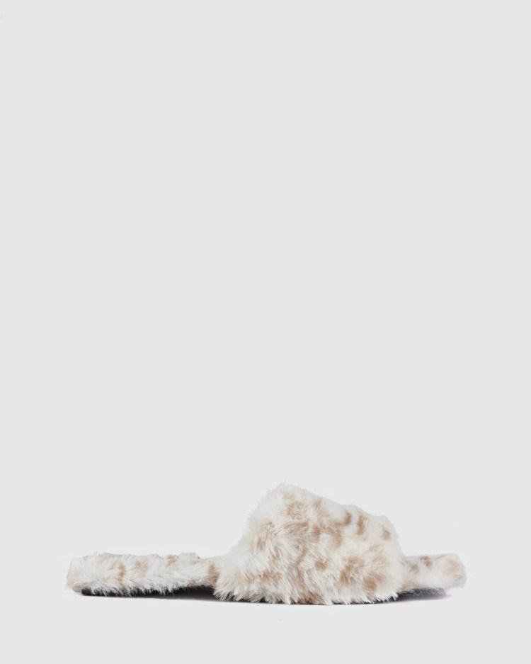 St Sana Benloe Slippers Sandals Snow Leopard