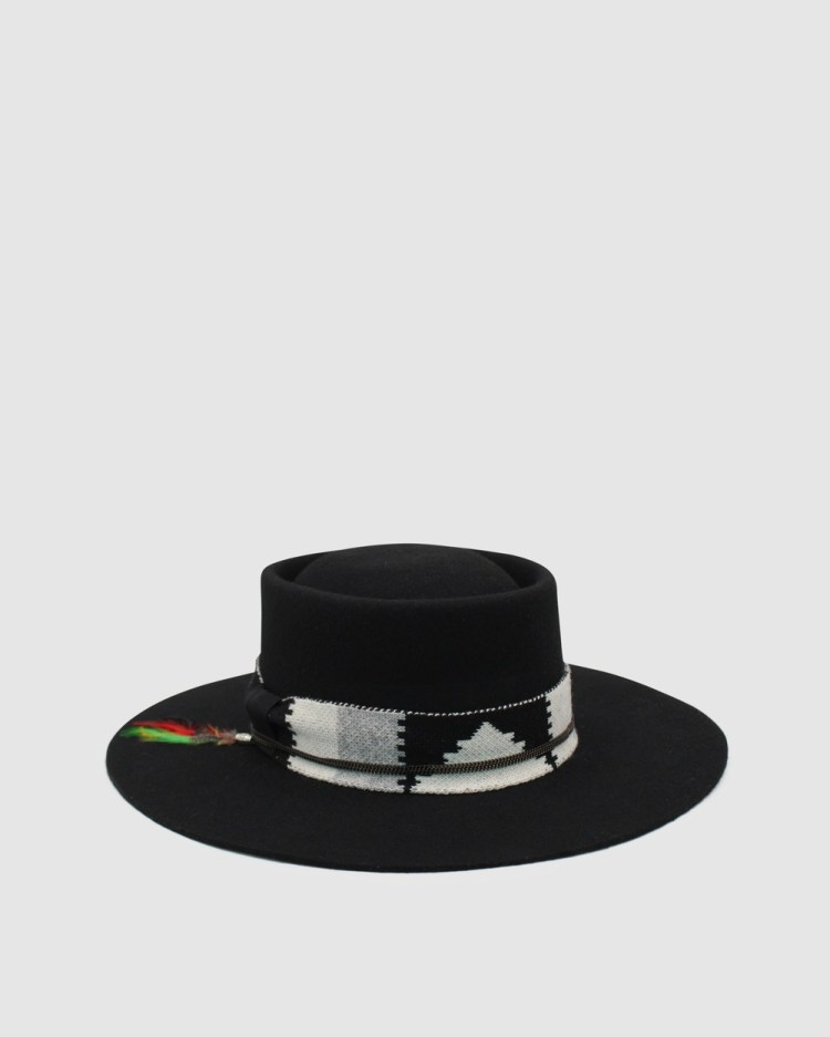 Ace Of Something Mohican Boater Hats Black