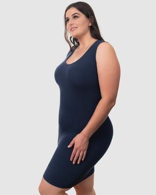 B Free Intimate Apparel - Curvy Bamboo Everyday Dress - Lingerie (Pacific Blue) Curvy Bamboo Everyday Dress