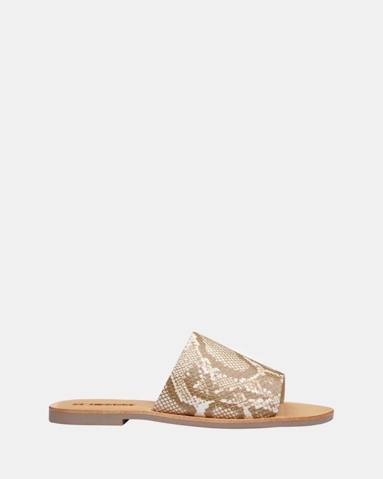 Sol Sana Teresa Slides Sandals White Snake