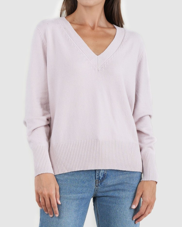 Amelius Curzon Knit Jumpers & Cardigans Pink