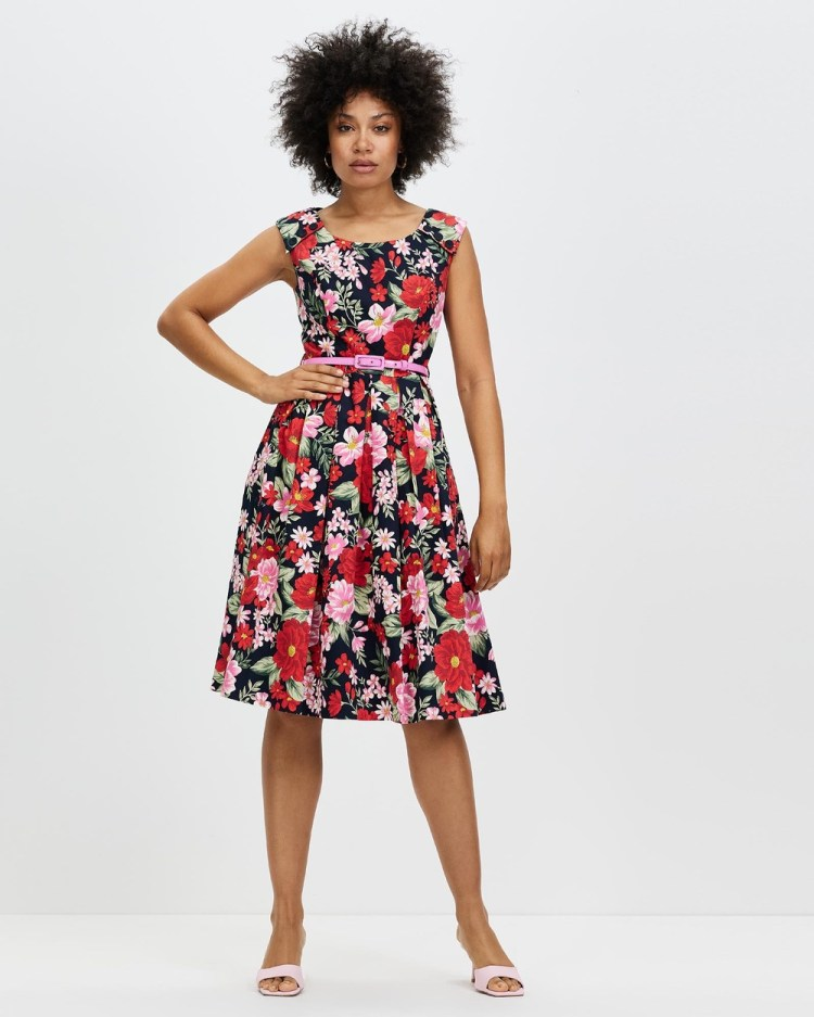 Review Admiral Floral Prom Dress Printed Dresses Multi
