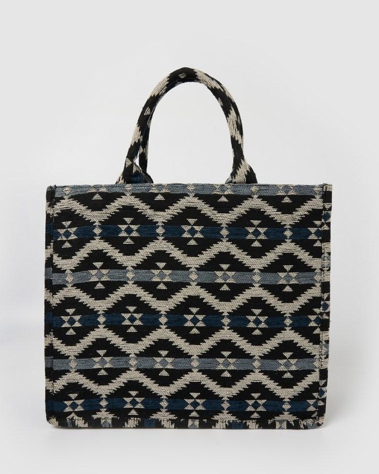 Izoa Candice Tote Bag Beach Bags Black