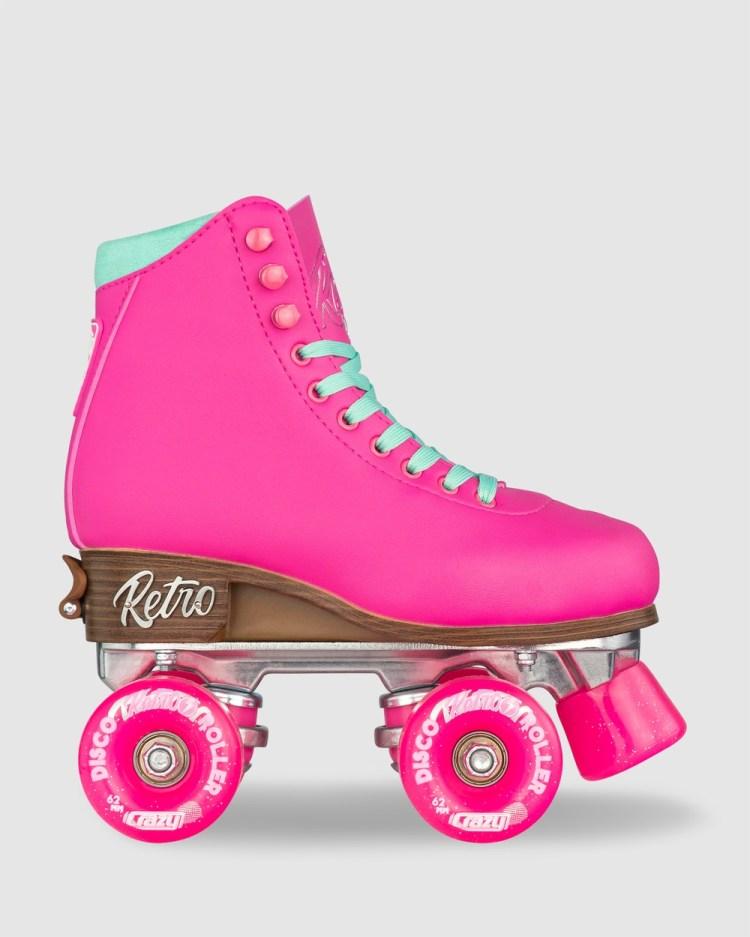 Crazy Skates Retro Roller Size Adjustable Performance Shoes Pink