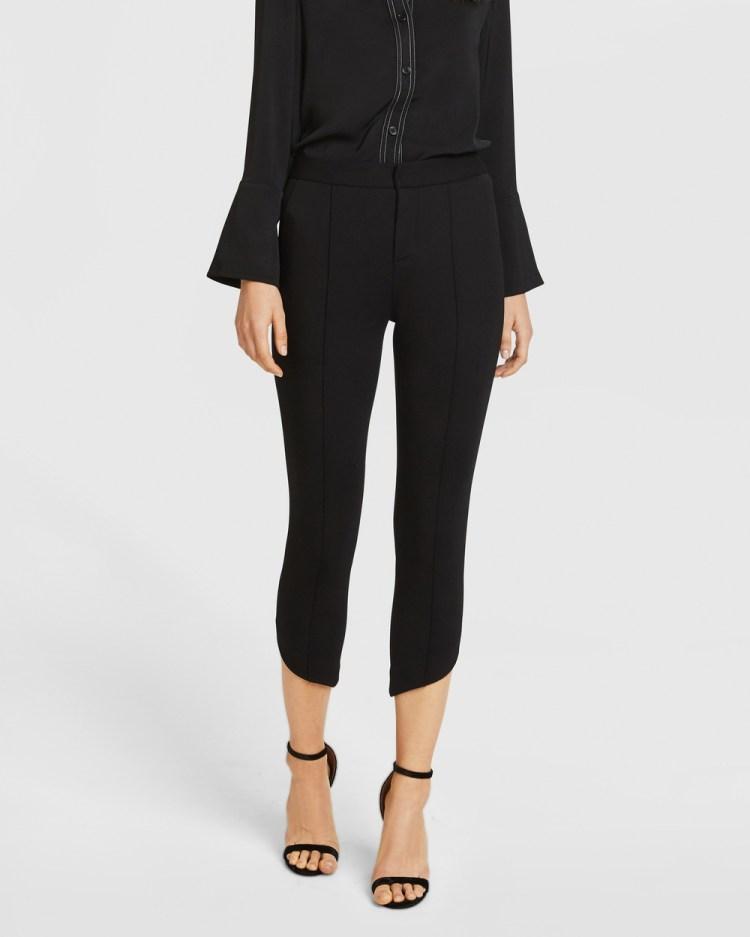 ARIS Diagonal Hem Trousers Pants Black