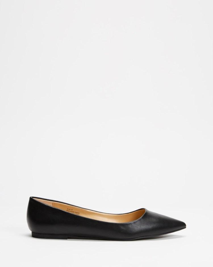 SPURR Allie Flats Ballet Black smooth