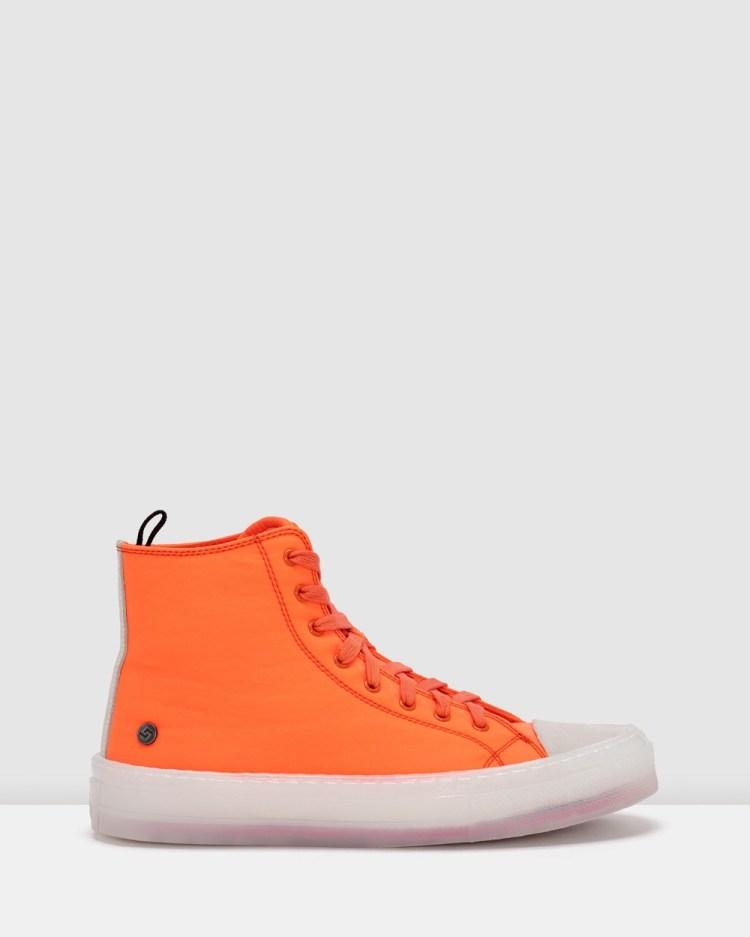 Rollie Ranger High Top Sneakers Orange