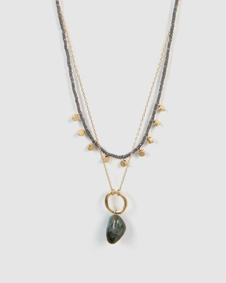 Forcast Jolene Layered Necklace Jewellery Grey