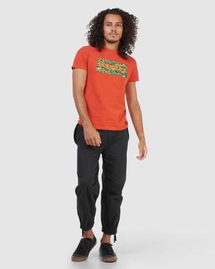 Superdry Core Logo Canvas Tee T-Shirts Denim Co Rust