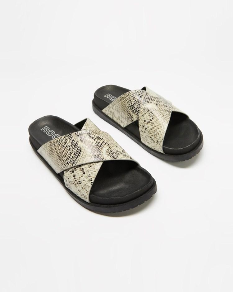 ROC Boots Australia Taboo Sandals Natural Snake