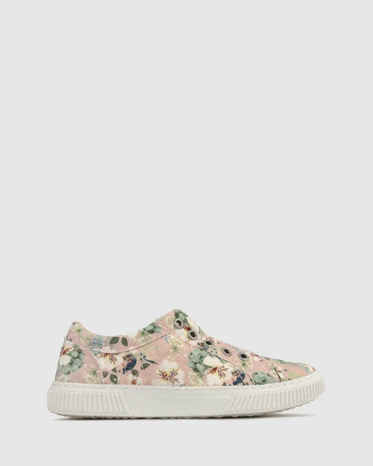 Zeroe Austin Quilted Canvas Sneaker Casual Shoes Pink