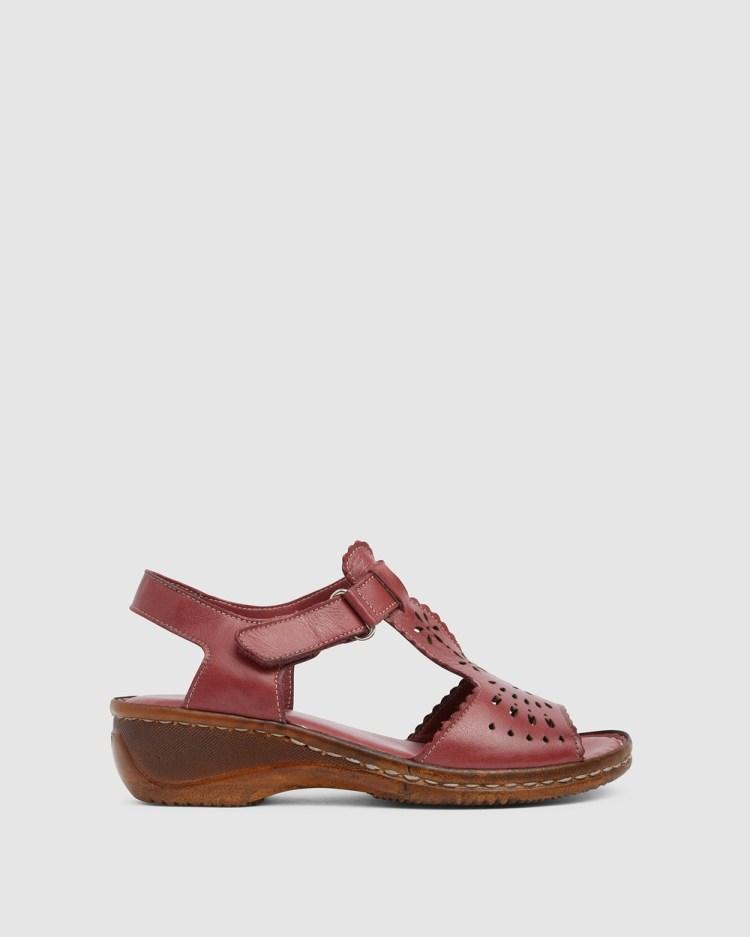 Wide Steps Dario Heels Cherry Glove