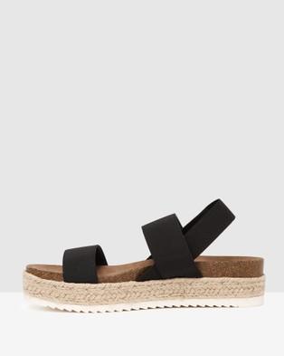 Steve Madden Cybell Black Sandals Black