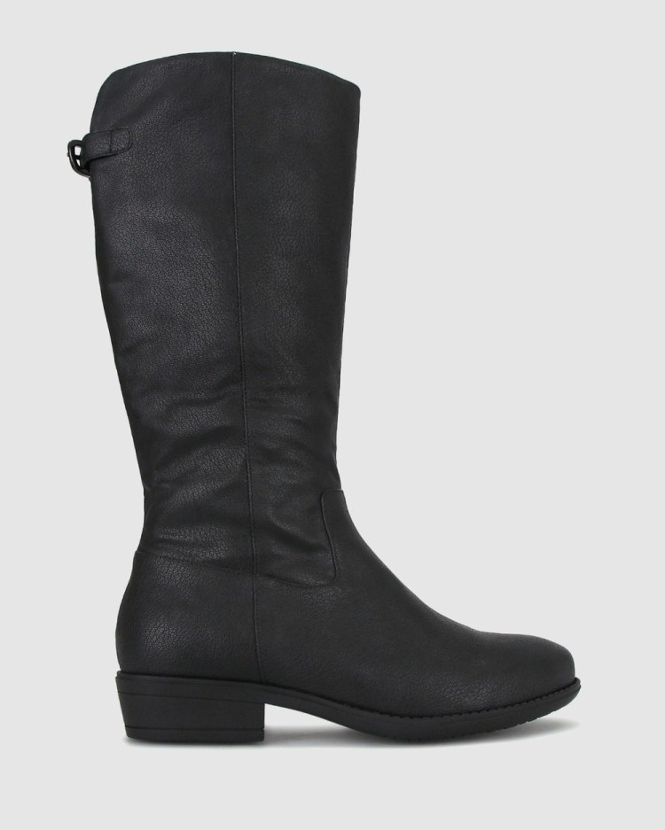 Zeroe Wide Fit Holly Tall Boots Knee-High Black