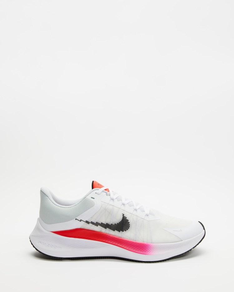 Nike Winflo 8 Mens Performance Shoes White, Black, Crimson, Total Orange & Pink Blast