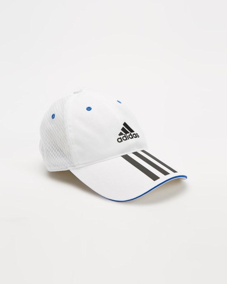 adidas Performance Mesh Cap Kids Teens Headwear White & Black Kids-Teens