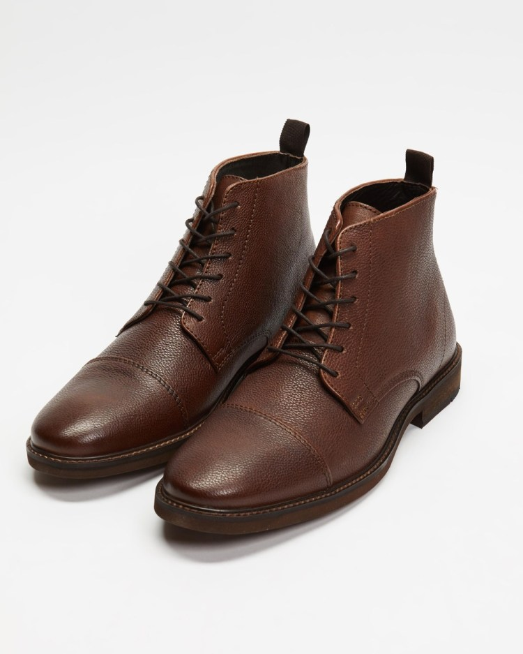 Double Oak Mills Hoy Leather Boots Dress Brown