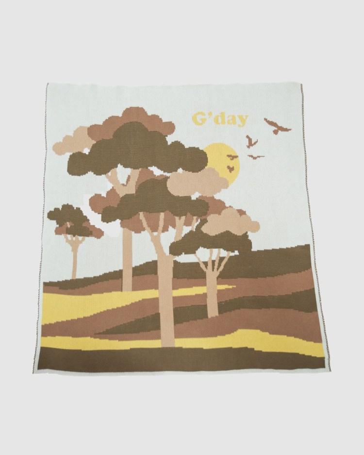 Banabae Gday Organic Cotton Blankie Blankets Tan