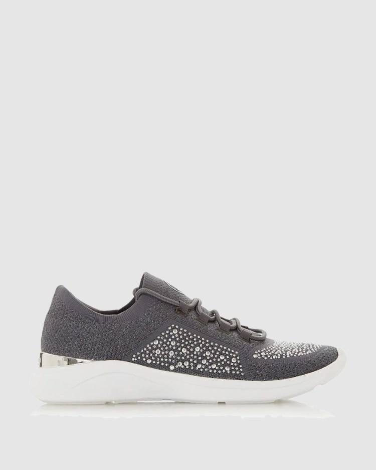 Dune London Easy Lace Up Sneakers Grey