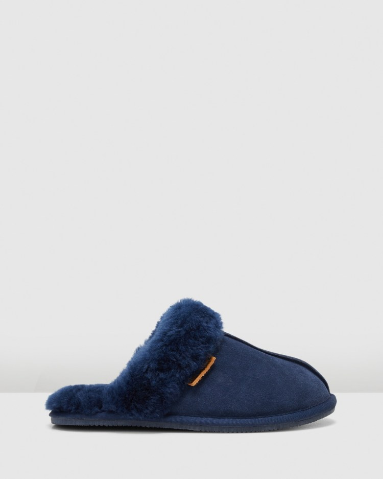 Hush Puppies Cushy Slippers & Accessories Midnight Suede