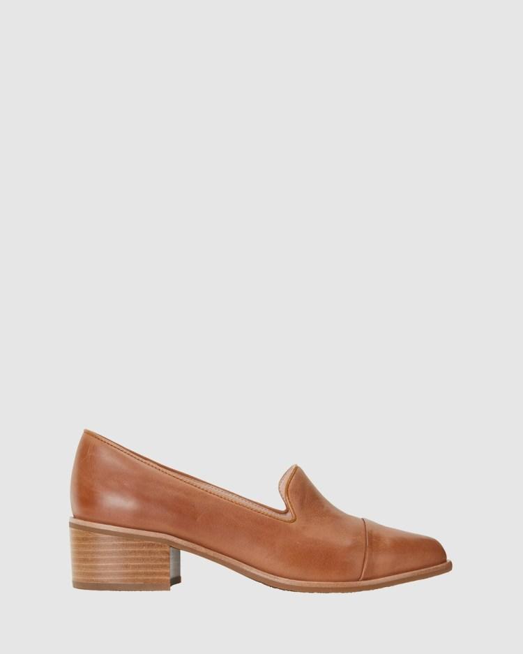 Jane Debster Expert Mid-low heels TAN