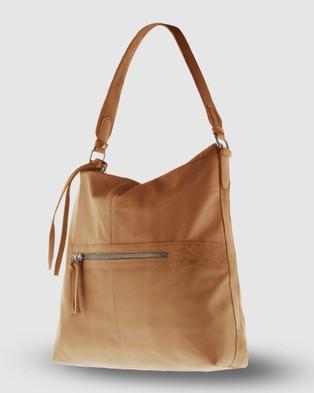 Cobb & Co - Mackay Leather Hobo - Handbags (Tan) Mackay Leather Hobo