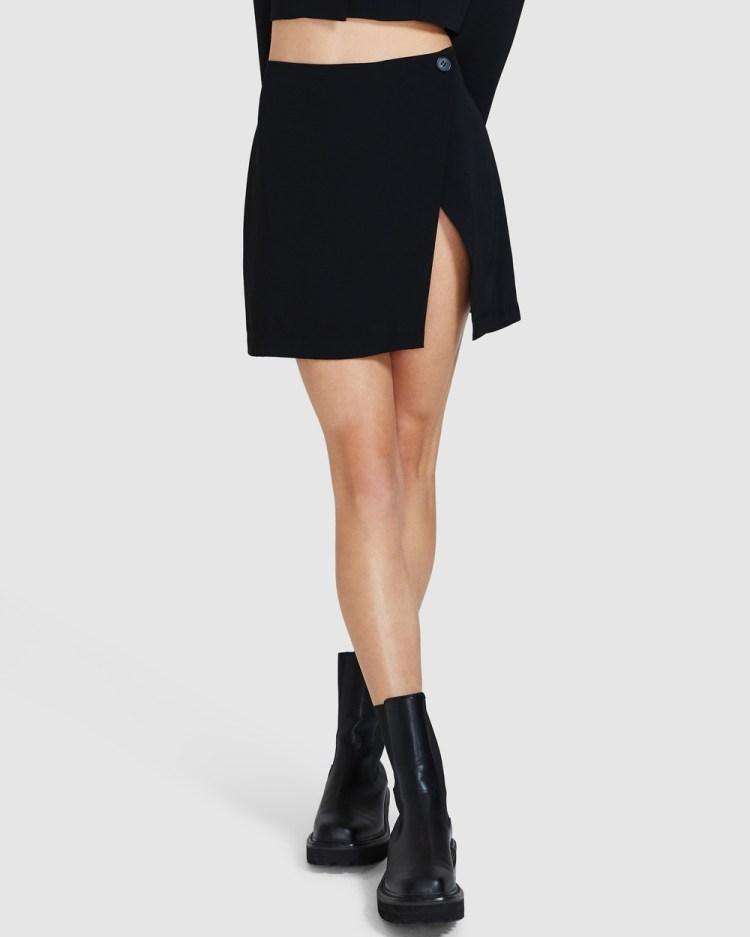 Alice In The Eve High Wrap Mini Skirt Skirts BLACK