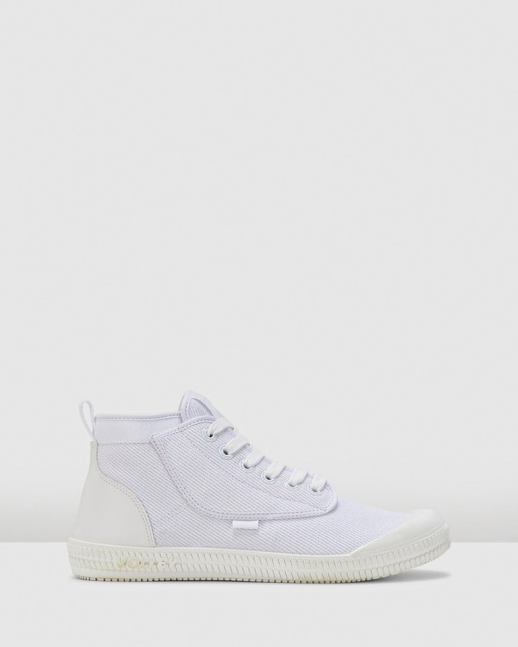 Volley Heritage High Top Sneakers White/White