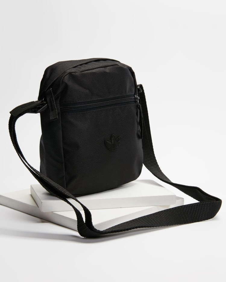 adidas Originals Embroidered Trefoil Festival Bag Bags Black & White